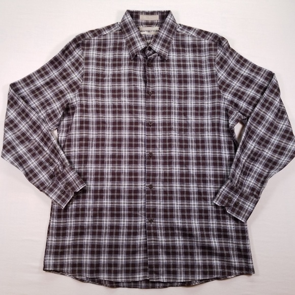 Nordstrom Other - Nordstrom Brown Plaid Cotton Shirt